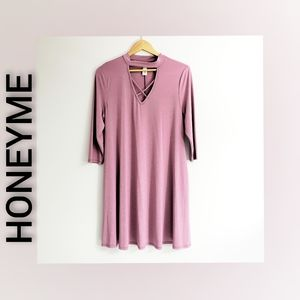 Honeyme Dress Rose Color Size Medium